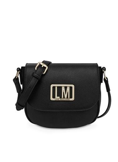 Love Moschino   Marka Logolu Ayarlanabilir Askılı Çanta Kadın Çanta Jc4144Pp1Cln3000 Siyah